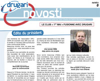 Drugari Novosti, the Belfort serbian community <em>Drugari</em>'s newspaper (Screenshot)
